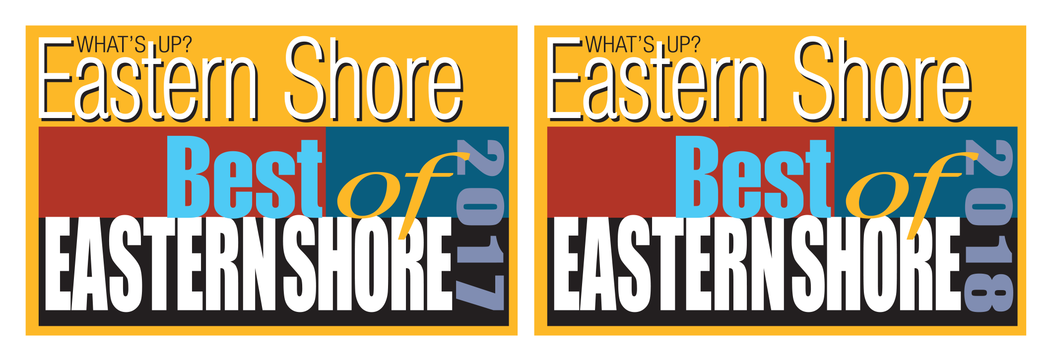 Best of Eastern Shore 2017 and 2018 logos