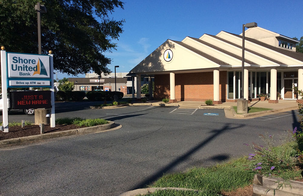 Shore United Bank branch at 2609 Centreville Road in Centreville, MD