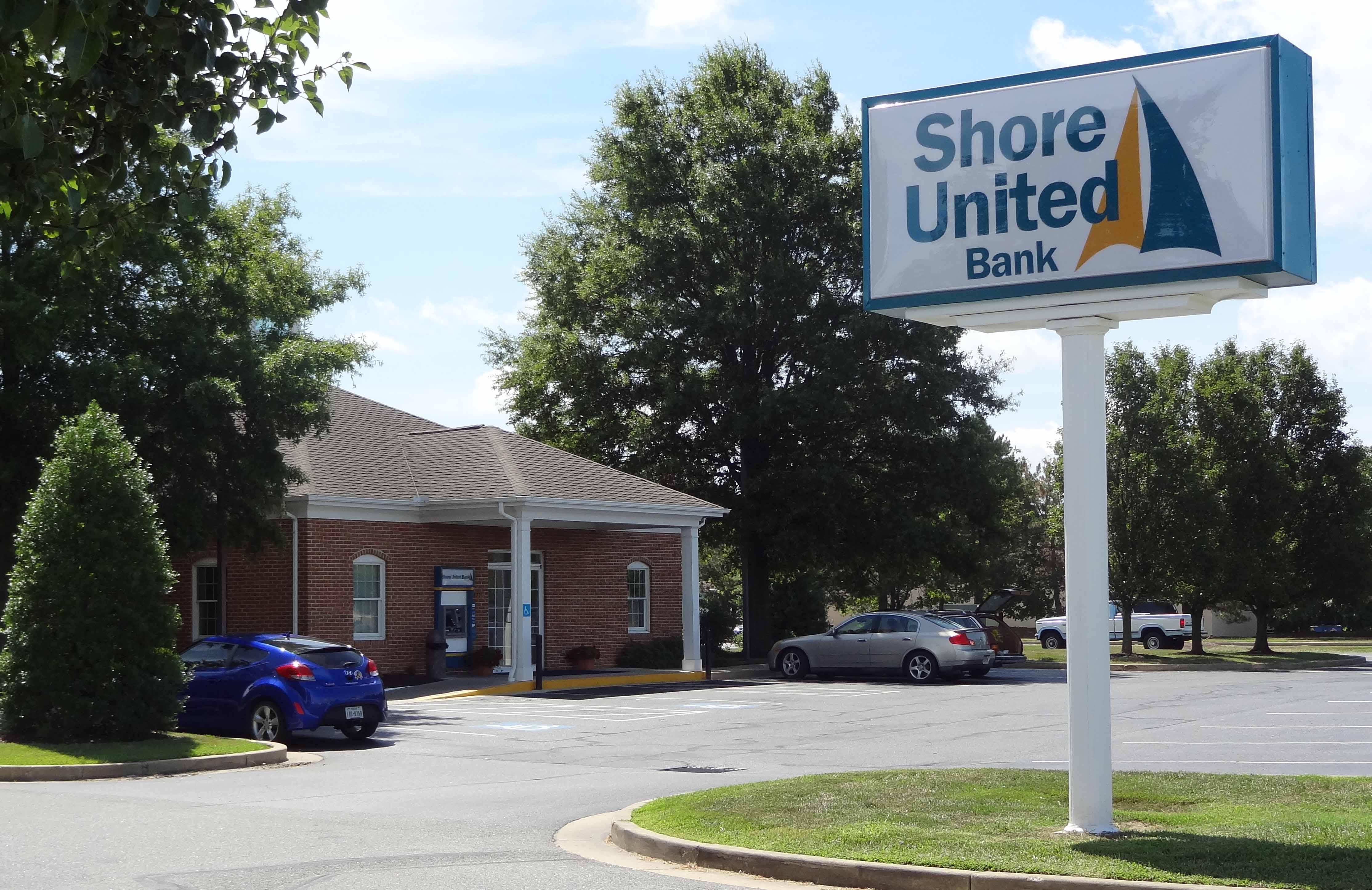 Shore United Bank branch at 8275 Elliott Road in Easton, MD