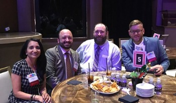 A group of Shore United Bank employees at an event for the Baltimore Business Journal