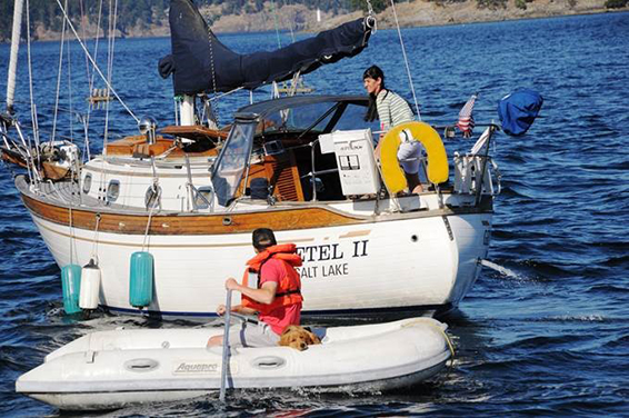 "A 30' Baba named ""Gretel II"" 30' on the south end of Trincommali Sound in British Columbia, Canada