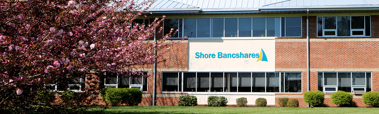A front view of Shore Bancshares' headquarters
