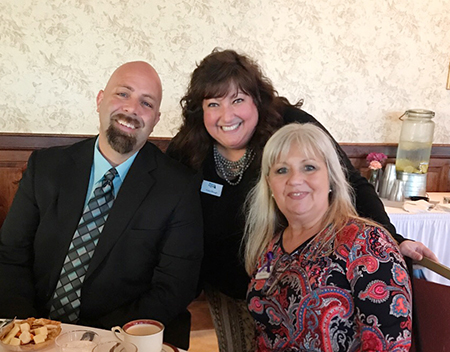 Three Shore United Bank employees at the Milford Housing Development Corporation's 40th Anniversary Celebration