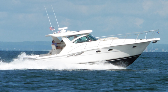 A 2003 Tiara 38' Open on Long Island Sound in New York