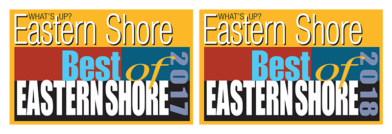 2017 Best of Eastern Shore Logo and 2018 Best of Eastern Shore Logo